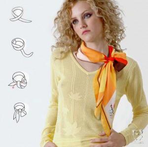 красиво завязываем шарф