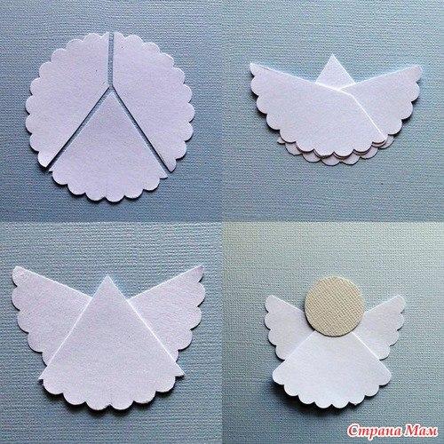 ангелочек из бумаги своими руками МК