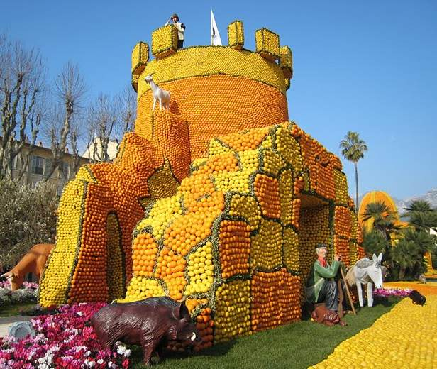 Фестиваль лимонов .Франция
