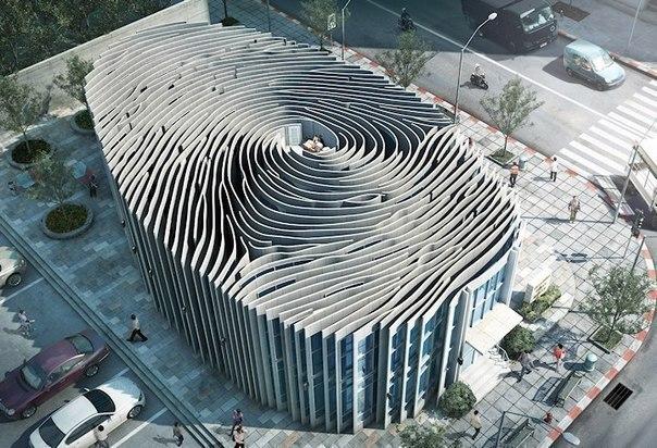 Необычные здания Здание в форме отпечатка пальца, Тайланд.