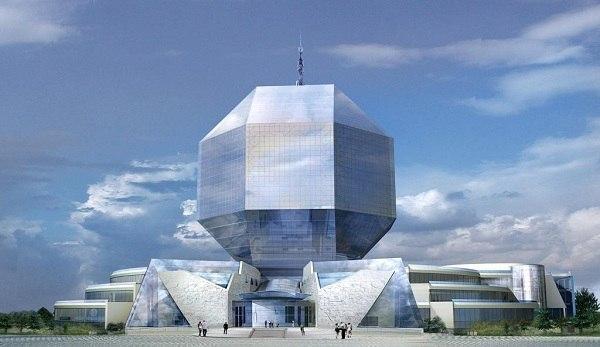 Необычные здания Национальная библиотека в Минске, Беларусь