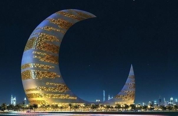 Необычные здания Небоскреб-полумесяц, Дубай, ОАЭ.