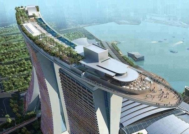 Sands SkyPark, комплекс Марина Бэй Сэндс, Сингапур.