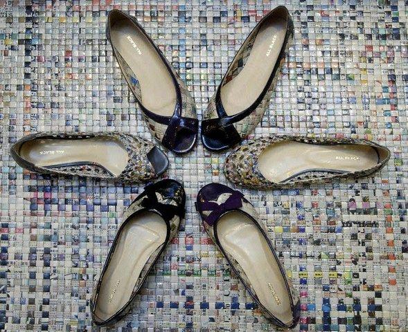 старые газеты обувь