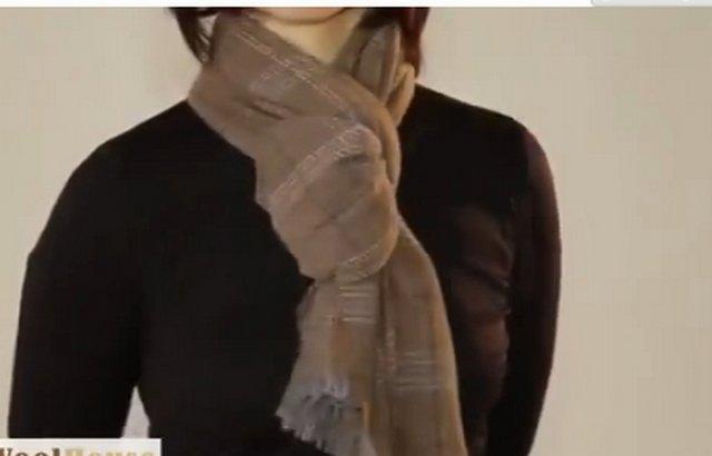 красиво завязать шарф