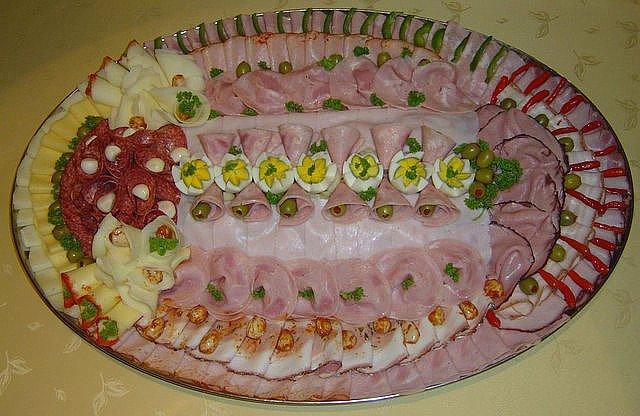 нарезка колбасы