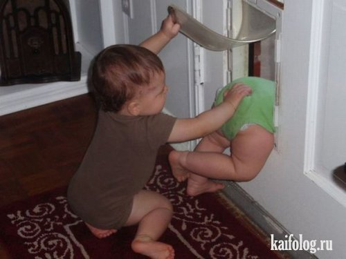 Шуточные фото детей