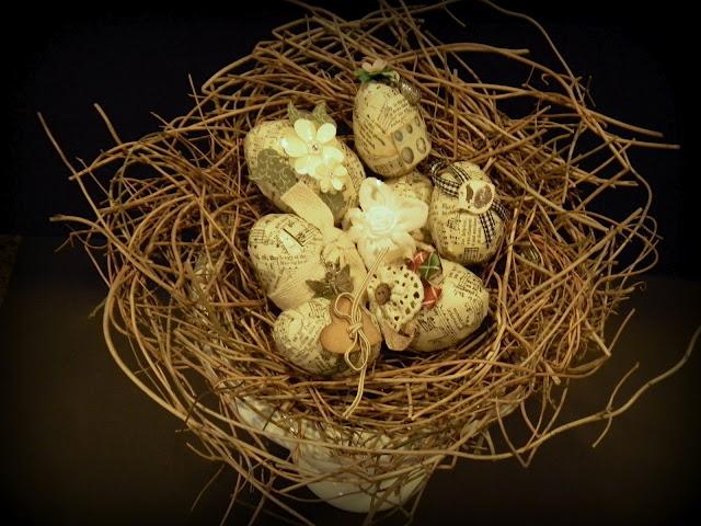 винтажные пасхальные яйца