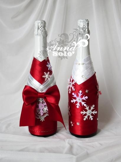 Украшения к новому году своими руками бутылка шампанского