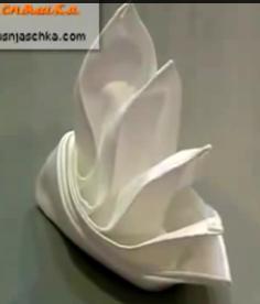 красиво складываем салфетку