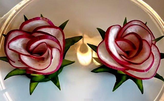 украшение блюд редис
