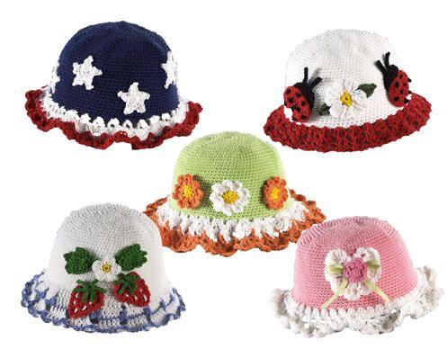 шляпки для девочек крючком