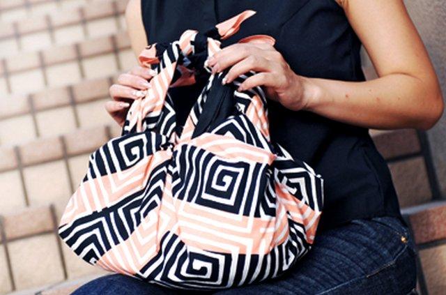 сумка из платка фурошико